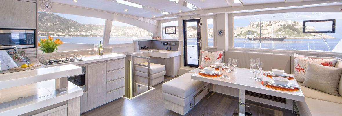 Leopard Catamaran Saloon