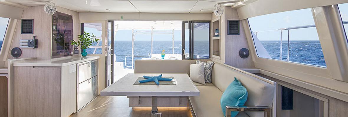 Moorings Catamaran Interior